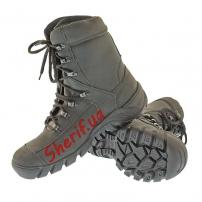Ботинки кожаные с высокой берцой Black (модель 2)-3