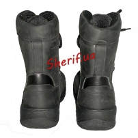 Ботинки кожаные с высокой берцой Black (модель 2)-4