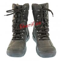 Ботинки кожаные с высокой берцой Black (модель 2)-6