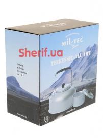 14695000 Чайник MIL-TEC алюминиевый 1Qt-3