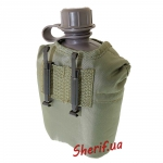 Фляга MIL-TEC США 1 л с чехлом Olive, 14505001-3