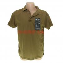 Тактическая футболка-поло MIL-TEC Dark Coyote