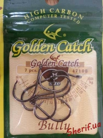 Крючки Golden Catch № 8 (18,5 кг) Bully, 47108