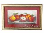 Картина бисером «Яблоки», 28х45см