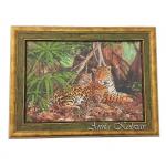 Картина бисером «Тигры», 46х35см