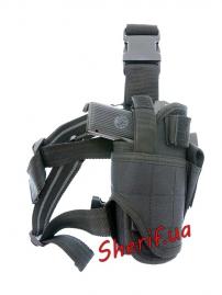 Кобура MIL-TEC на ногу регулируемая Black-7