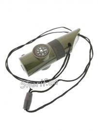 Компас TSC-21В с фонариком, свистком, термометром, 01721