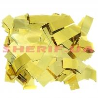 Конфетти-метафан Gold (цв.золото,metall, 2x6,5см) 0,5кг