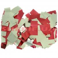 Конфетти-метафан Red/Silver (цв.красный-серебро, metall, 2x6,5см) 0,5кг