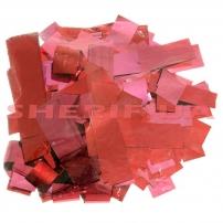 Конфетти-метафан Red (цв.красный,metall, 2x6,5см) 0,5кг
