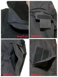 Куртка полицейская с флисовой подкладкой Black-7
