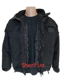 Куртка полицейская с флисовой подкладкой Black-2