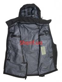 Куртка тактическая MIL-TEC Softshell PCU Black-5