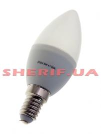Лампа светодиодная C37 Е14 5W 4100K свеча- 22