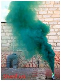 Дымный факел Зеленый 35сек