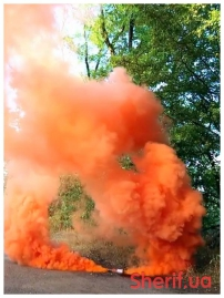 Дымный факел Оранжевый 60сек DUPLEX