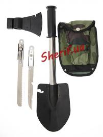 Набор многофункциональный в чехле ( лопата, топор, нож, пила) X-14