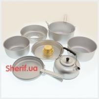 14700500 Набор посуды MIL-TEC с горелкой