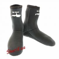 Неопреновые носки BS-Diver для подводной охоты или дайвинга (б/у)