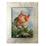 Картина бисером «Новый год (кот)»