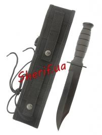 Нож Combat с чехлом Black, 15363002