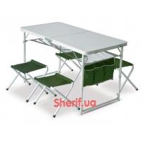 Набор мебели Pinguin Set Table + 4 Stools Green