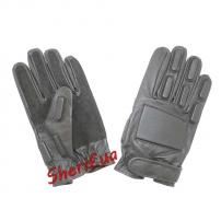 Перчатки MIL-TEC охранника кожаные Black, 12501002