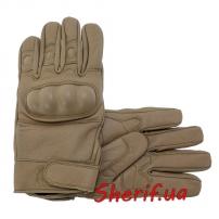 Перчатки MIL-TEC тактические кожаные Coyote