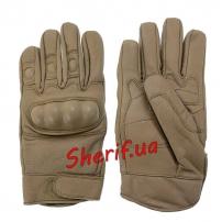 Перчатки MIL-TEC тактические кожаные COYOTE, 12504105-2
