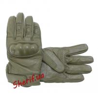 Перчатки MIL-TEC тактические кожаные OLIVE