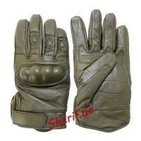 Перчатки MIL-TEC тактические кожаные OLIVE, 12504101-2