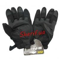 Перчатки Mechanix M-Pact 3 FF+ плас. кост. Black-3