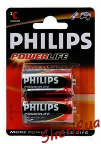 Батарейка PHILIPS PowerLife LR14, 1шт