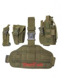 Тактическая набедренная кобура Max Fuchs Olive Leg-and belt fixing-3