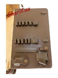 Планшет офицерский для карт, ручек (кожа)-5