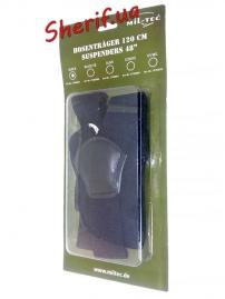 Подтяжки MIL-TEC с клипсой Black, 13184002-2
