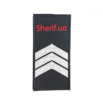 Погон Сержант полиции (1шт),липучка 10*5см