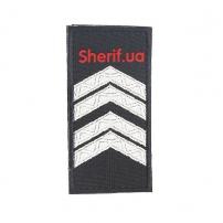 Погон Старший сержант полиции (1шт),липучка 10*5см