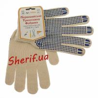 Рукавицы трикотажные для защиты рук белые (хлопок 95%)