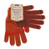 Рукавицы трикотажные для защиты рук оранжевые (хлопок 95%)