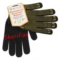 Рукавицы трикотажные для защиты рук черные (хлопок 95%)