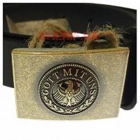 Ремень MIL-TEC брючный кожаный Вермахт, 30мм-4