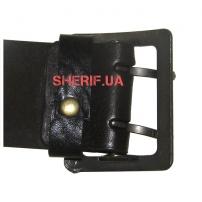 Ремень офицерский цельнокожаный коричневый (пряжка латунь)-4