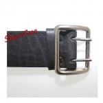 Ремень портупейный кожаный,  черный-3