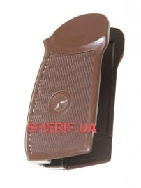 Рукоять пластмассовая коричневая для пистолета Макаров мр654к-4