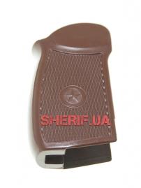 Рукоять пластмассовая коричневая для пистолета Макаров мр654к-5