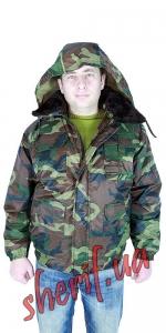 Куртка зимняя НАТО 'ТИТАН' камуфляж,  мех отстегивается