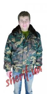 Куртка зимняя ТИТАН военный камуфляж №2 мех отстегивается
