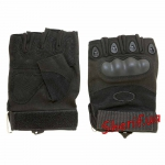Перчатки тактические беспалые Oakley (черные) 2