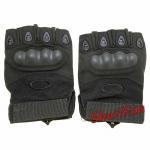 Перчатки тактические беспалые Oakley (черные) 1